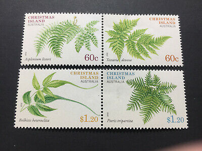 2012 Christmas Island - Ferns. Full set. Both Joined Pairs. Mint (MLVH)