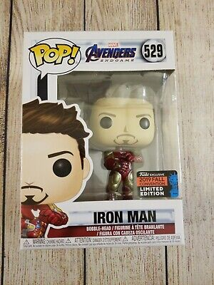 Funko Pop Iron Man w/ Guantlet NYCC 2019 Shared Exclusive. Avengers Endgame Mint