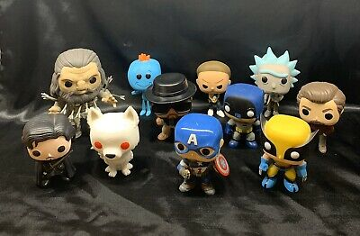 Funko Pop Lot Of 11 Game Of Thrones, Marvel, Rick & Morty, Breaking Bad, + MORE!