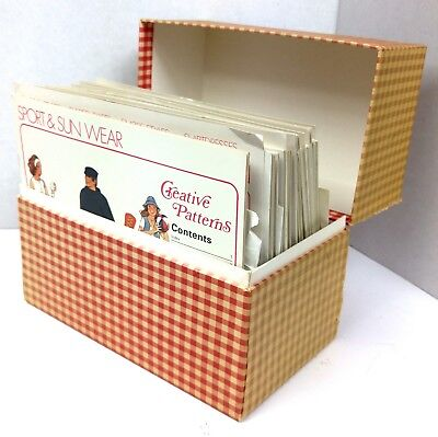 Vintage 1970s Creative Patterns Sewing Boxed File Set Instructions & Patterns