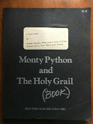 MONTY PYTHON AND THE HOLY GRAIL A FIRST DRAFT. Collectible script.