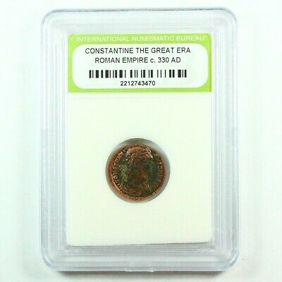Slabbed Ancient Roman Constantine the Great Coin c. 330 AD Exact Coin Shown 2059