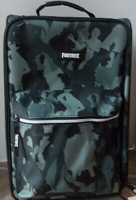 Fortnite Kids Rolling Luggage Carry On Suitcase ~ NWT Black Camo