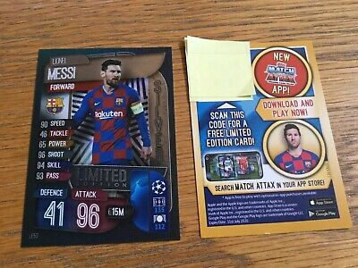 Match Attax 2019/20 Lionel Messi Silver Limited Edition Card LE5S Barcelona