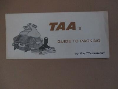 TAA brochure, 'Guide to Packing', vintage