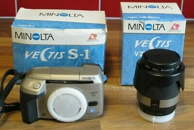 Minolta Vectis S-1 Camera + Lens, Boxed but Untested