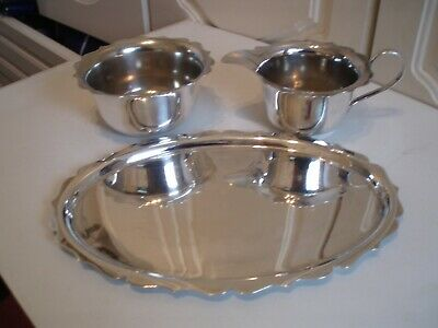 Silver Plated Milk/Cream And Suger Bowl