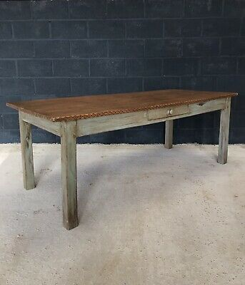 Stunning Antique French 2m Country Farmhouse Kitchen Dining Table