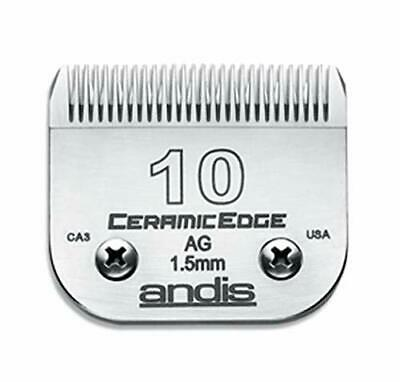 Andis CeramicEdge Carbon-Infused Steel Pet Clipper Blade Size-10 1/16-Inch Cu...
