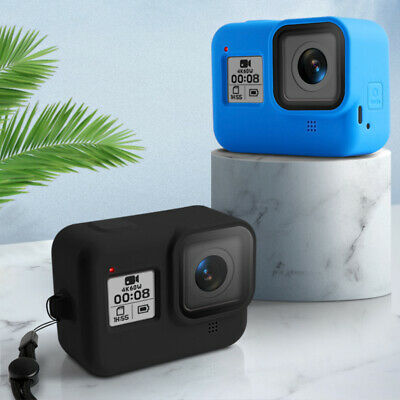 Sport Camera Colored Soft Silicone Case Carry Cover With Rope For Gopro Hero 8