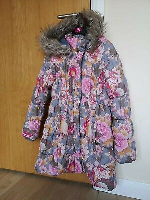 Girls MONSOON HERITAGE Coat Age 12 13 Floral Quilted Puffer Winter