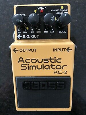 Boss AC-2 Acoustic Simulator Effect Pedal CLEAN And With Velcro