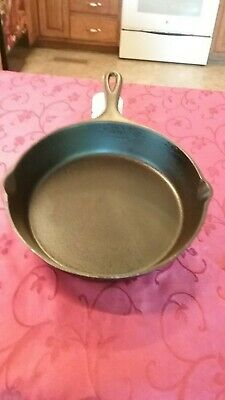Vintage Lodge #6 Cast Iron Skillet One Notch Cleaned Seasoned 1930's Heat Ring