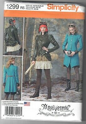SIMPLICITY 1299 Misses Pulp Era 1930/'s or Steampunk Heroine Sewing Pattern
