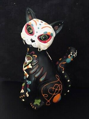 New Day Of The Dead Cat Figurine Dia Del Gato Muerto