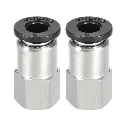 Push to Connect Tube Fitting Adapter 6mm OD x 1/8 PT Straight Connecter 2pcs