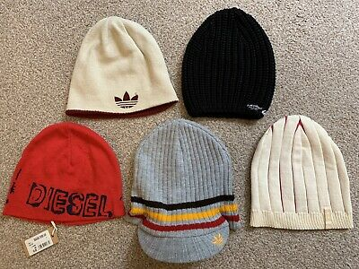 Bundle Of Mens Beanie Knitted Hats Adidas Diesel Quilsilver