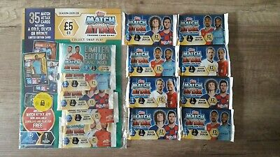 TOPPS - MATCH ATTAX 2019/20 - CHAMPIONS & EUROPA LEAGUE x1 MULTI & x8 £2 PACKS