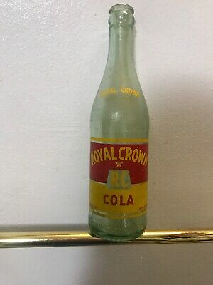 Vintage RC Royal Crown Cola 12 oz light green glass bottle #G-2906