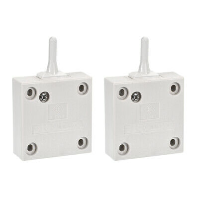 Wardrobe Door Light Switch Momentary Closets 110-250V 2A White 2 Pcs