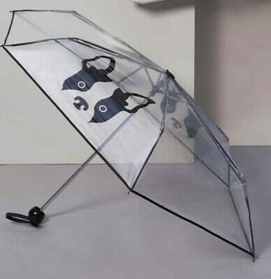 Womens/Ladies/Mens Clear French Bulldog Umbrella  Accessories **FREE POSTAGE**