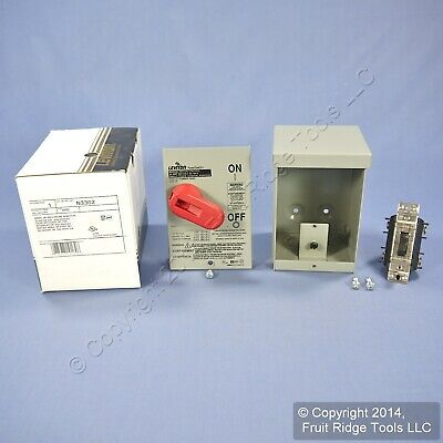 Leviton Motor Starter Switch DPST Double-Pole Single Throw w/Lockout 30A N3302