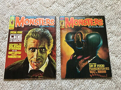 Two Famous Monsters of Filmland Magazines #105 March 1974 And #104 January 1974
