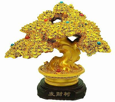 Feng Shui Money Tree Bonsai Home Decorative Statue for Wealth Luck