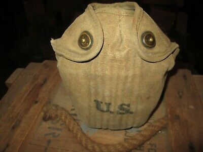WWII WW2 WWI M-1910 CANTEEN COVER ,  canteen, pouch ,belt US ARMY ORIGINAL 1942