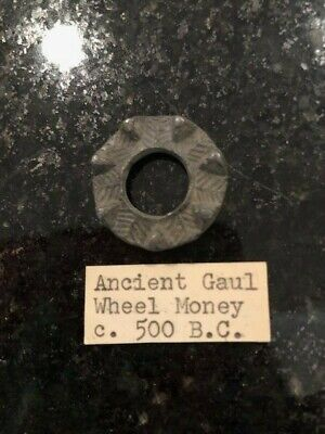 "Genuine Rare Ancient Celtic Gaul ""Wheel Money"" 500 BC. Cast Lead  Odd & Curious"