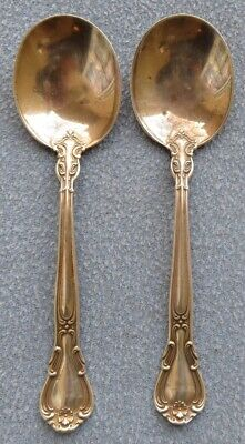 Two Gorham Sterling Silver Chantilly Soup Spoons