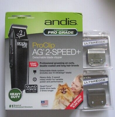 NEW Andis ProClip AG 2 Speed+ Detachable Blade Clipper Dog 2 Ultra edge