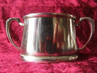 Vintage Mappin & Webb Silver Plated Sugar Bowl {Military Issue Dated 1957}
