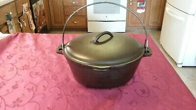 BSR Century Series #8 Cast Iron Dutch Oven w lid Bail Handle Restored