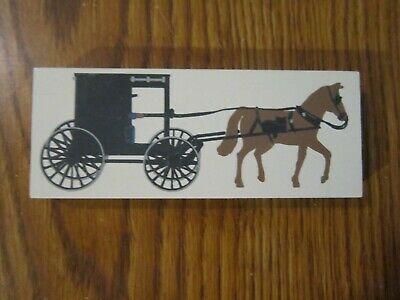 Horse Drawn Amish Buggy Wagon Accessory Cat's Meow Village Wood Retired