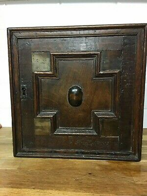 english oak spice cupboard 1650 complete coffer bible box 17th century wainscott