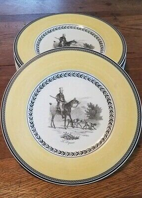 Villeroy & Boch Anno 1748 Germany Audun Chasse 9 Dinner Plates Le Depart 10 5/8""
