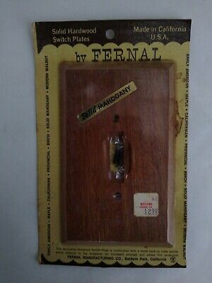 Vintage Fernal Mahogony Wood Light Switch Plate Cover USA NEW Free Shipping