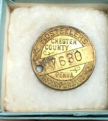 Chester County, Pa. Vintage  Mostellers  #7630 Charge Coin