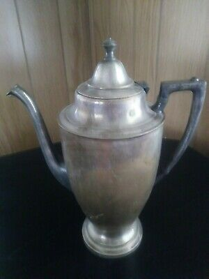 Vintage Crescent Mfg. Silver Plate Coffee Pitcher Server Antique