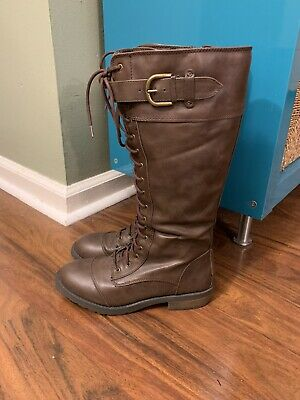 White Mountain Womens Boots Size 8.5 Dark Brown Leather Calf Boots
