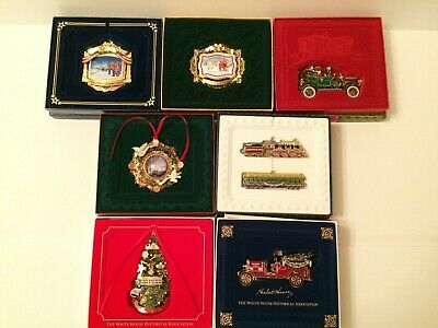 The White House Historical Association Christmas Ornament Lot of 7; 2010-2016