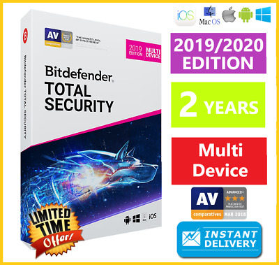 Bitdefender Total Security 2019 / 2020 | 2 Years | Download - Instant Delivery🌟