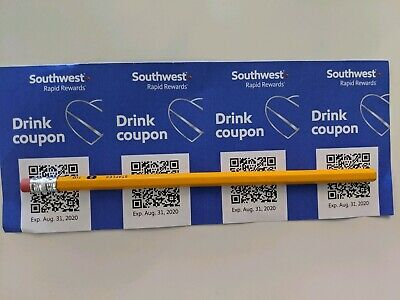 Southwest Drink Coupons 4x Expire Aug 2020