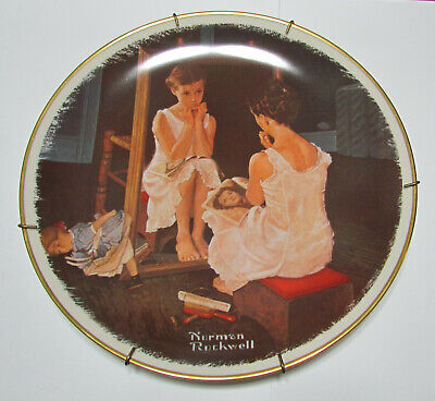"""Norman Rockwell Collector Plate """"Reflections On The Future"""" 1978 Gorham"""