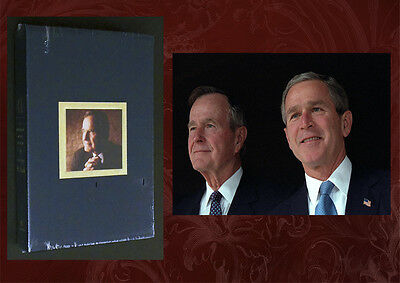 GEORGE BUSH SIGNED & SEALED - 41: A Portrait of my Father Deluxe Ed, Bonus 5x7!