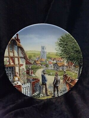 Royal Doulton Journey Through The Village Rose Cottage Display Plate