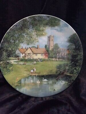 Royal Doulton In The Footsteps Of Constable The Village Pond Display Plate