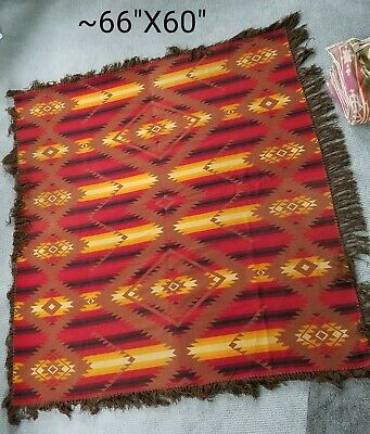 1920's Pendleton Wool Trade Blanket Aztec Southwest Tribal Multi-color