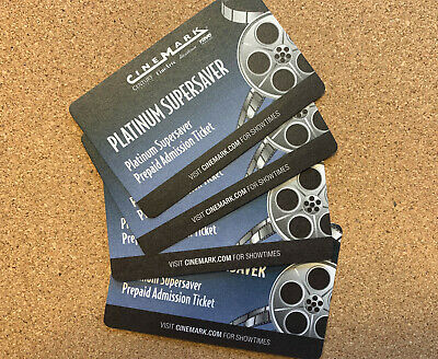 4 CINEMARK PLATINUM SUPERSAVER Paid Admission-Tickets Valid any movie any time!